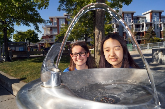 Students pour water awareness into fountain campaign